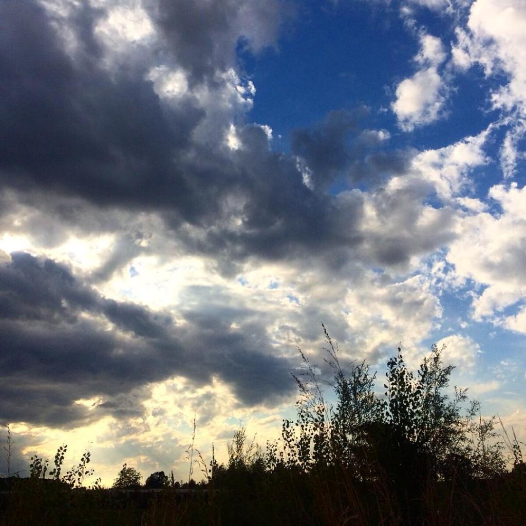 Penso che le cose più belle del mondo siano il cielo e il mare. In giornate come oggi, nelle quali si susseguono nubi, raggi di sole, pioggia, arcobaleno e ancora nubi, non riesco a smettere di guardarti, cielo, sei una meraviglia #sky #amazing #fall #lifestyle #igersitaly #igers #igaddict #igersmodena