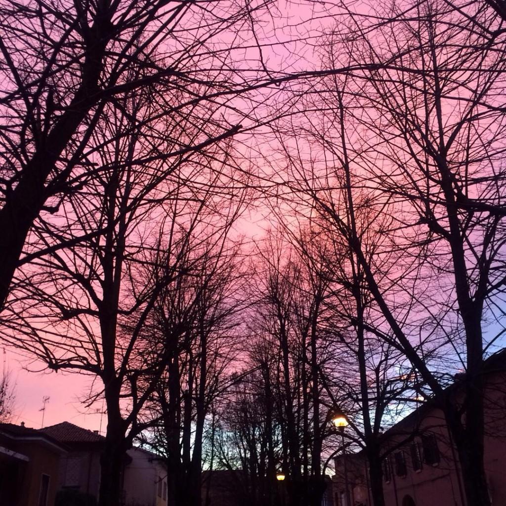 ✨Magic sunset✨ Esci in un pomeriggio di un sabato qualunque per fare un po' di shopping poco convinta, invece torni a casa felice perché hai visto un cielo così. Per fortuna che sono uscita. Inutile dire che alla fine non ho comprato niente. Ero già soddisfatta.  #sky #skyline #igers #ig_italy #ig_bologna #igersmodena #igersemiliaromagna #lifestyle #photogrid #photooftheday #picoftheday #travel