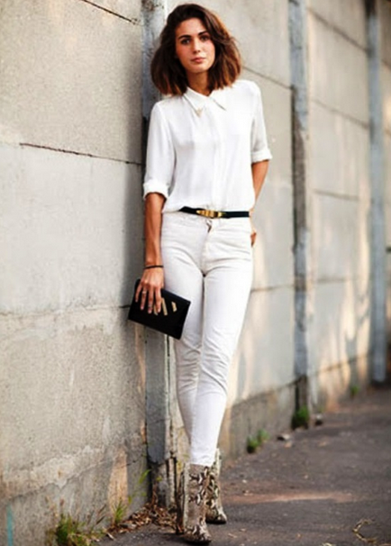 total white look 2