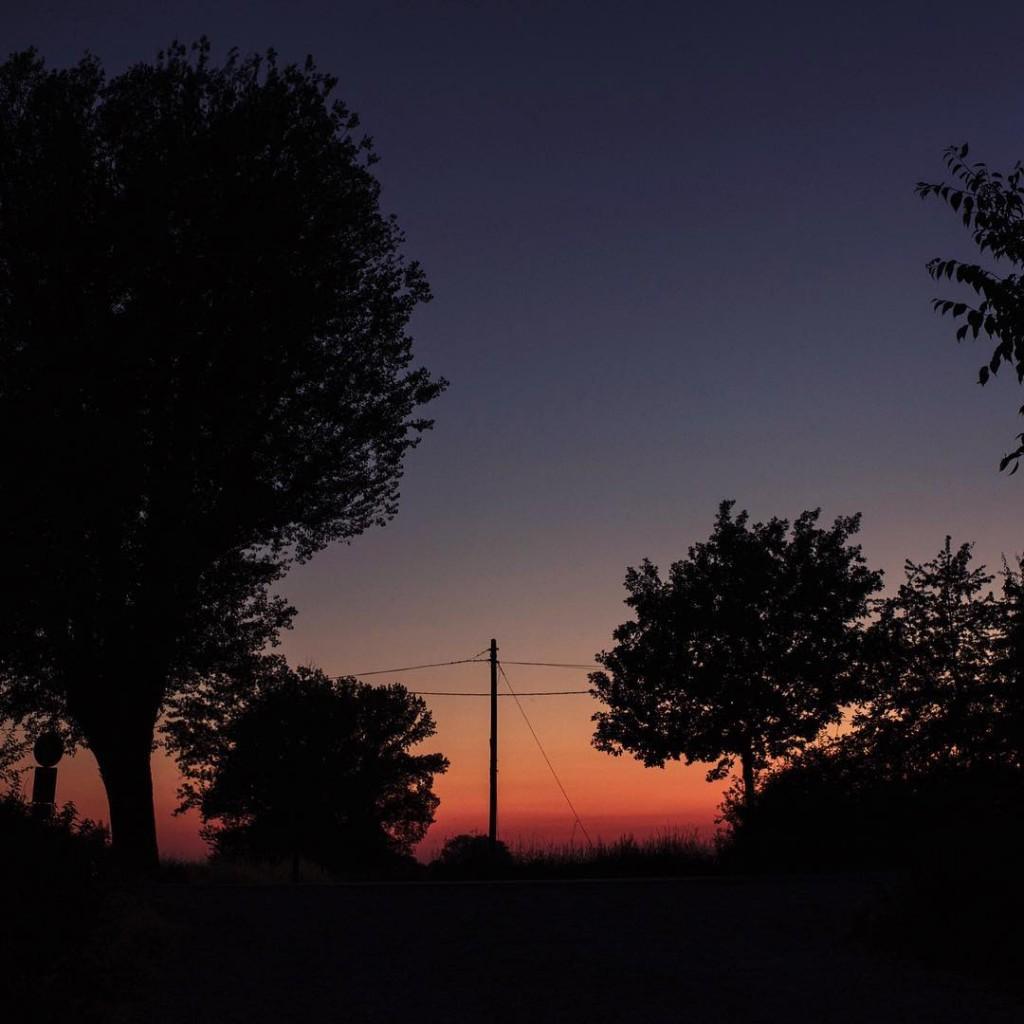 La luce calda verso lorizzonte I colori rosso cupo ehellip